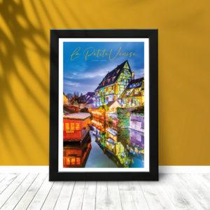 Colmar Petite Venise (poster encadré)
