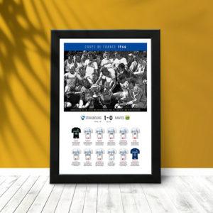 Coupe France 1966 (poster encadré) 01