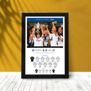 Coupe France 2001 (poster encadré)