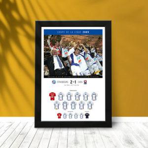 Coupe Ligue 2005 (poster encadré)