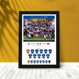 Coupe Ligue 2019 (poster encadré)