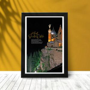 Mont sainte Odile (poster encadré)