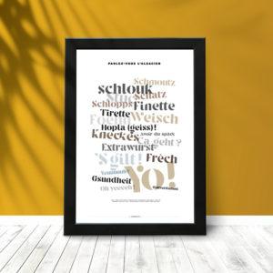 Parlez-vous l'alsacien (poster encadré)