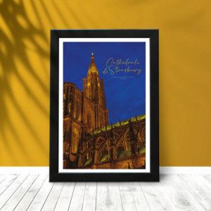 Strasbourg Cathédrale (poster encadré)